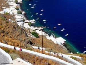 Pushing Myself In Santorini
