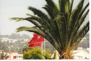 Tangier tourist trap - Morocco flag