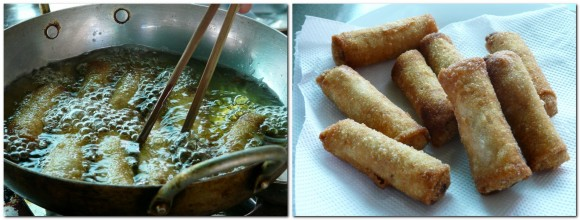 Phnom Penh cooking class spring rolls