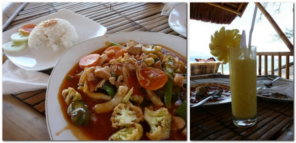 lunch on Gili Air - food in Southeast Asia