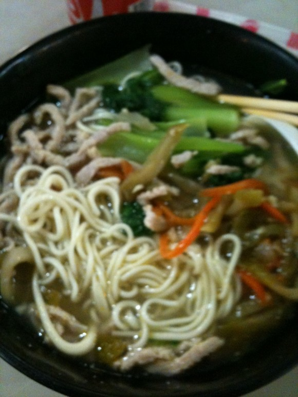 Singapore noodle soup - food in Southeast Asia