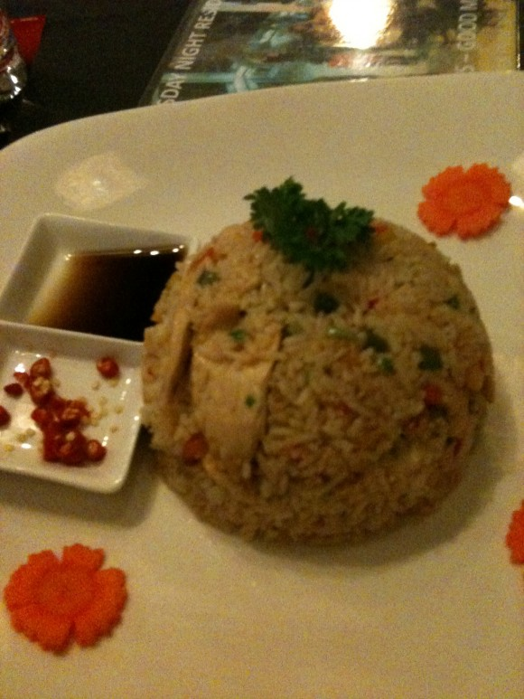 chicken friend rice in Phnom Penh, Cambodia - food in southeast Asia