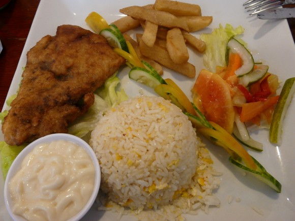 Brunei fish and chips - food in Southeast Asia
