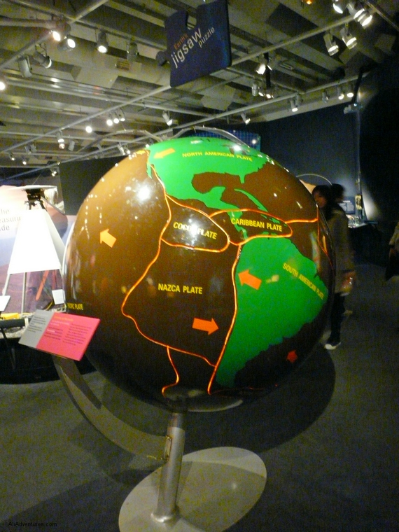 visiting the Te Papa Museum in Wellington, New Zealand