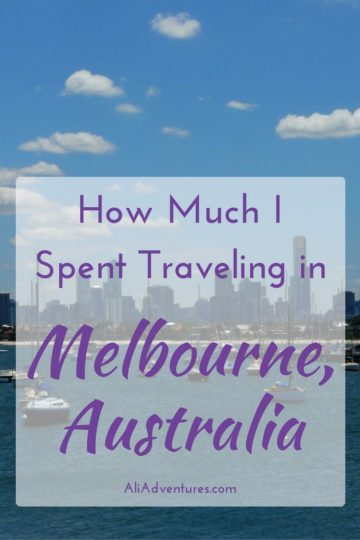 Australia is not a cheap destination, but it's an amazing country. Here's how much I spent traveling in Melbourne for 10 days to help you plan your budget. #melbourne #australia #budgettravel #traveltips