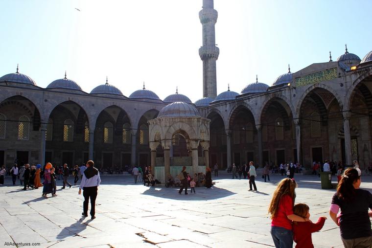 Blue Mosque courtyard