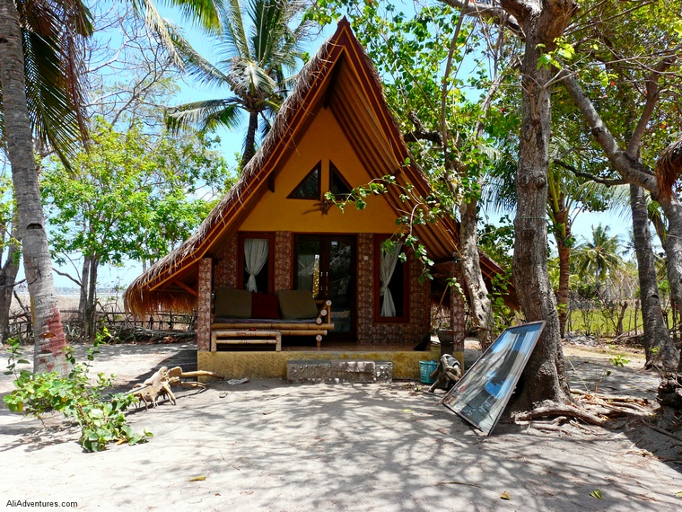 Gili Air bungalow, Indonesia