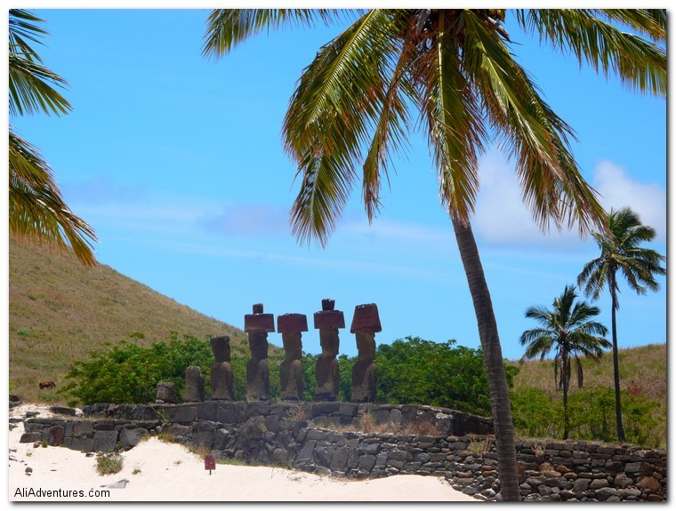 Easter Island Moai at the beach