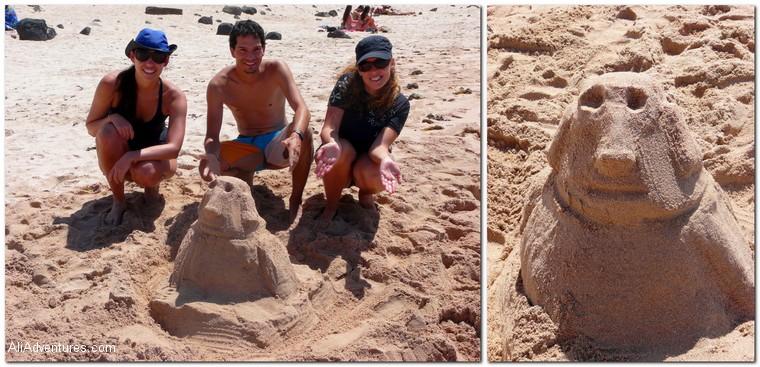 Easter Island sand Moai