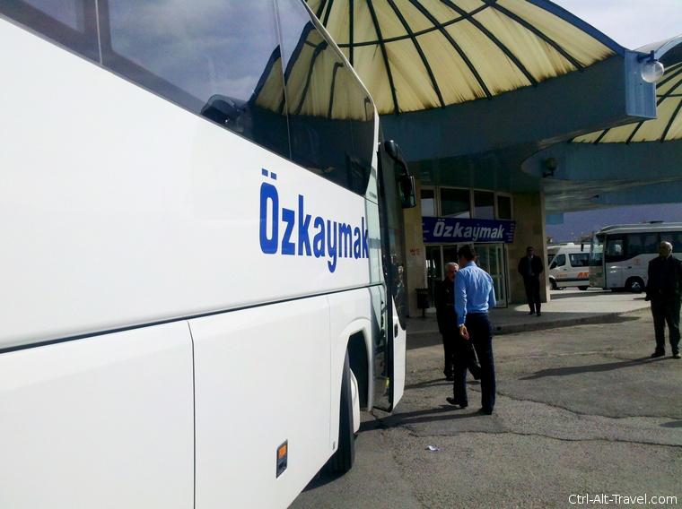 bus in Turkey, somewhere between Cappadocia and Izmir