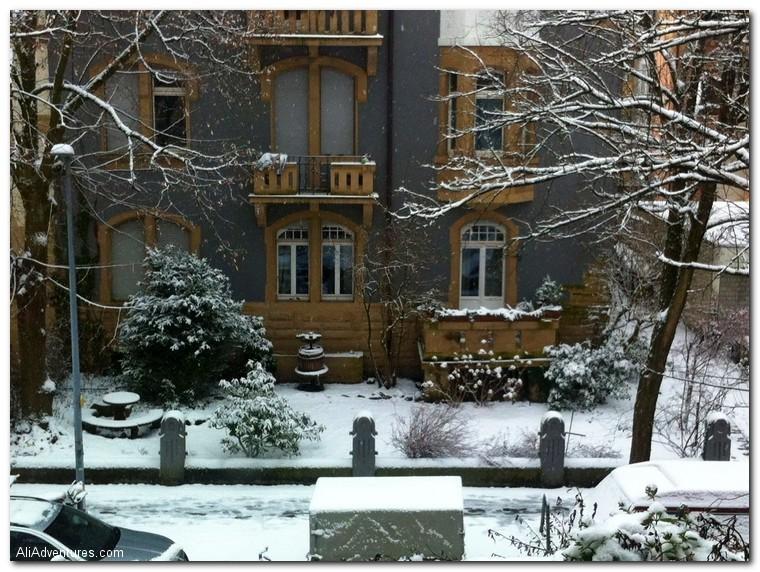 Freiburg Germany snow