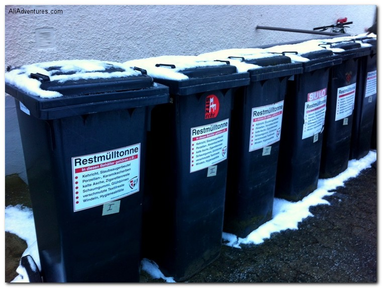how to throw out garbage in Germany