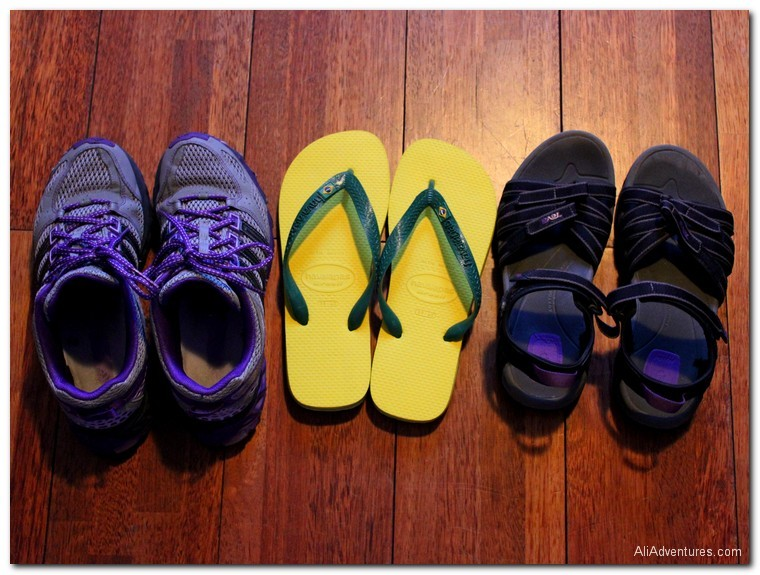 what to pack for a 7 week trip to Europe - shoes