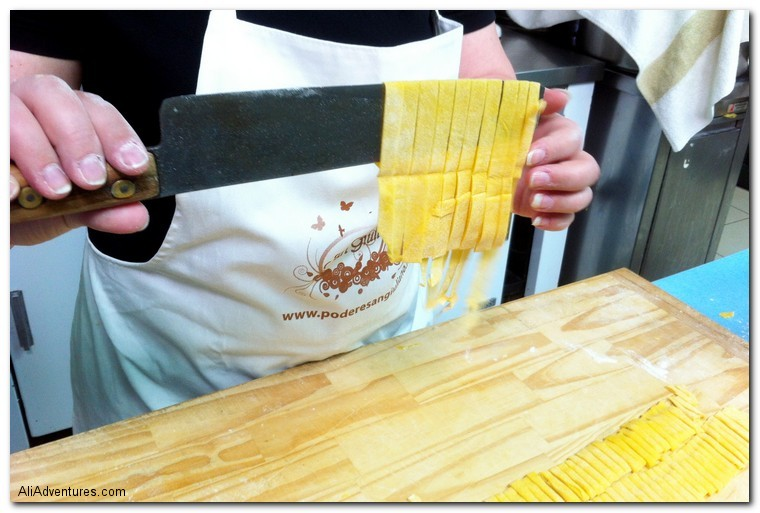 learning to make pasta in Bologna, Italy