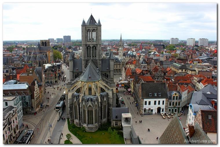 Ghent Belfry and St. Nicholas Church, Belgium
