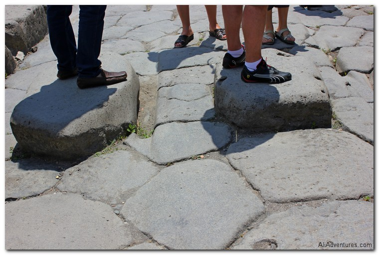visiting ancient Pompeii in Italy