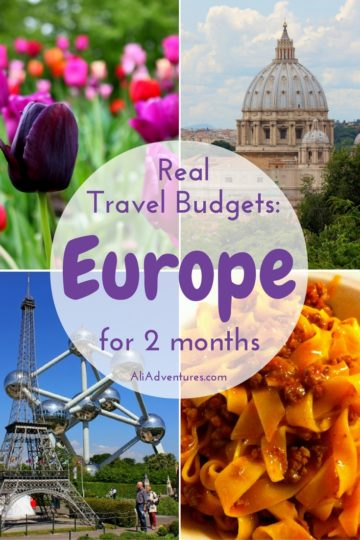 Traveling in western Europe isn't cheap, so you need to plan how much to budget per day in Europe. Here's how much it cost to travel to Europe for 2 months. Europe trip budget | Europe trip cost | how much does it cost to travel Europe | how much does a trip to Europe cost | how much does a Europe trip cost | how much does it cost to go to Europe | how much to travel Europe | how much money do you need to travel Europe #europe #budgettravel #traveltips