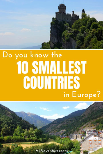 Tiny nations intrigue me. Do you know what the 10 smallest countries in Europe are? Here's a look at my experiences traveling to all 10 of Europe's smallest nations, plus some quirky facts about each one. | smallest country in Europe | smallest country in the world #europe