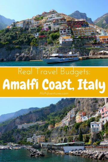 One of Italy's most spectacular regions is the Amalfi Coast. The scenery is gorgeous! Here's how much we spent traveling on the Amalfi Coast for one week. #italy #amalficoast #amalfi #budgettravel #traveltips