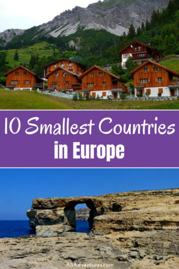 Do you know the 10 smallest countries in Europe? Here's a look at some interesting facts about the smallest countries in Europe and my experiences traveling Europe's smallest nations. | smallest country in Europe | smallest country in the world #europe