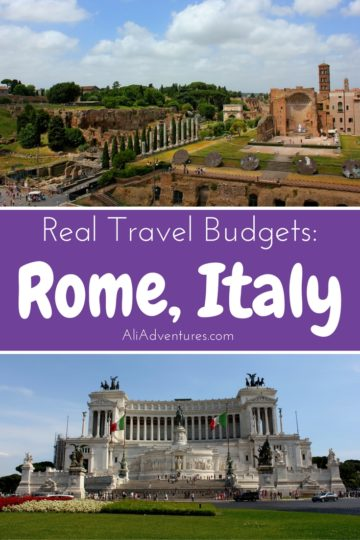 A trip to Rome, Italy is always a good idea. It's a gorgeous city with tons of history and delicious food. Here's how much we spent traveling in Rome for 9 days. #Rome #Italy #budgettravel