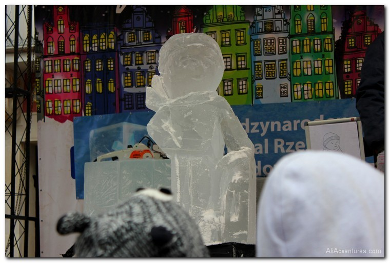 Poznan, Poland ice sculpture competition