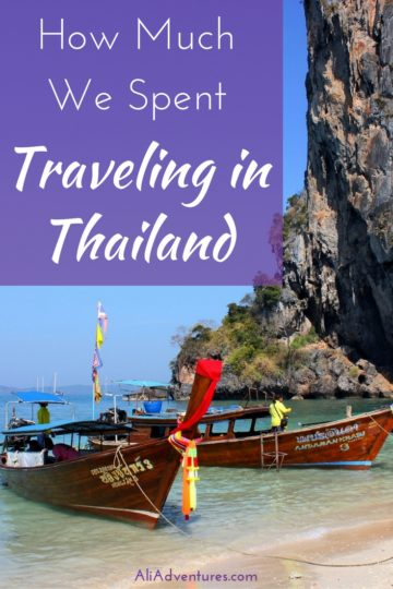 Thailand is popular for many reasons: it's cheap, it's gorgeous, and the food is delicious. Here's how much we spent traveling in Thailand for three weeks. #thailand #budgettravel #traveltips