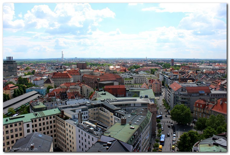 views from St. Peter's Church in Munich