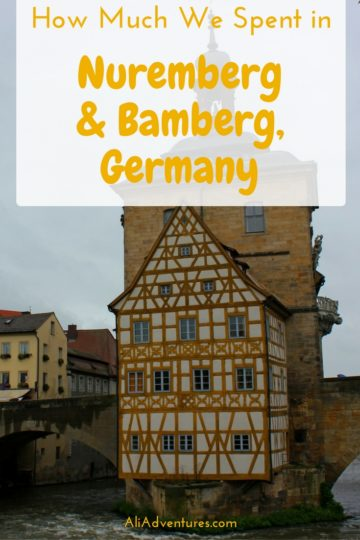 Nuremberg and Bamberg in Bavaria make great side trips from Munich or by themselves. Here's how much we spent traveling in Nuremberg and Bamberg, Germany. #germany #nuremberg #bamberg #bavaria #budgettravel #traveltips