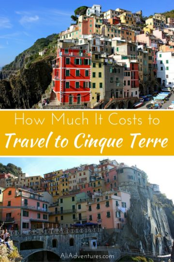 During our time in Italy, I took a weekend solo trip to Cinque Terre to see the famous fishing villages. Here's how much I spent traveling in Cinque Terre. #italy #cinqueterre #budgettravel #traveltips