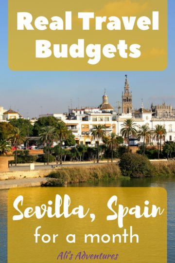 We went to Sevilla, Spain for warmer weather in the winter, and we really enjoyed our time there. Here's how much we spent living in Sevilla for a month. #spain #sevilla #seville #budgettravel #traveltips