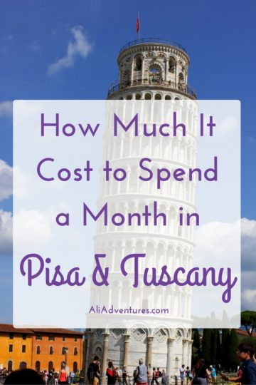 Sometimes we need to escape the cold Berlin winters. This time we chose Italy. Here's how much we spent living in Pisa and traveling in Tuscany for a month. #italy #tuscany #pisa #budgettravel #traveltips