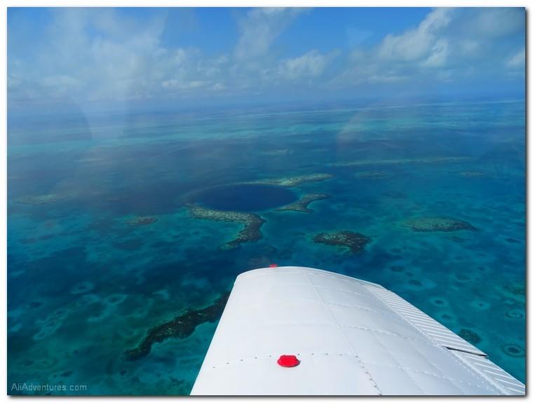 blue hole Belize tours scenic flight