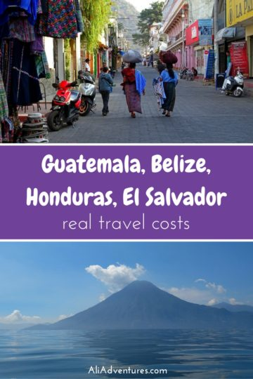 We're not budget backpackers or luxury travelers. Here's how much we spent traveling in Central America: Guatemala, Belize, Honduras, and El Salvador. #centralamerica #belize #guatemala #honduras #elsalvador #budgettravel #traveltips