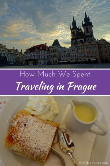 Despite its popularity, Prague can be an affordable destination. Here's a look at how much we spent traveling in Prague to help you plan your trip. #czech #czechia #czechrepublic #prague #budgettravel #traveltips