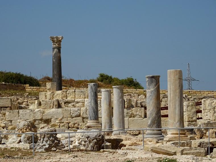 exploring Kourion ruins near Limassol, Cyprus