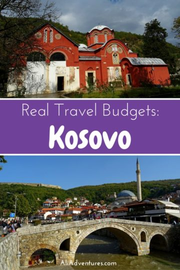 Kosovo was one of the cheapest countries I've ever been to, and it's worth a visit for its recent history. Here's how much I spent traveling in Kosovo. #kosovo #budgettravel #traveltips