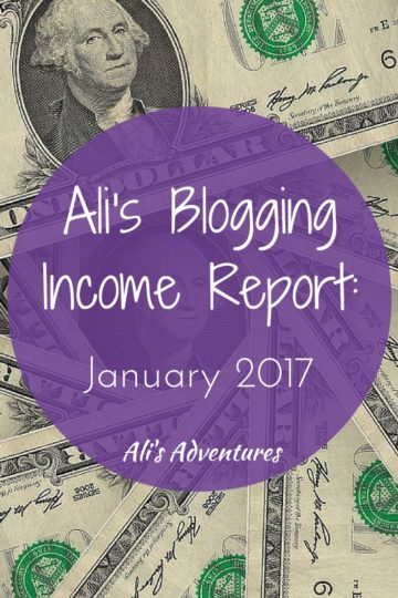 how much money I make online: blogging income report January 2017