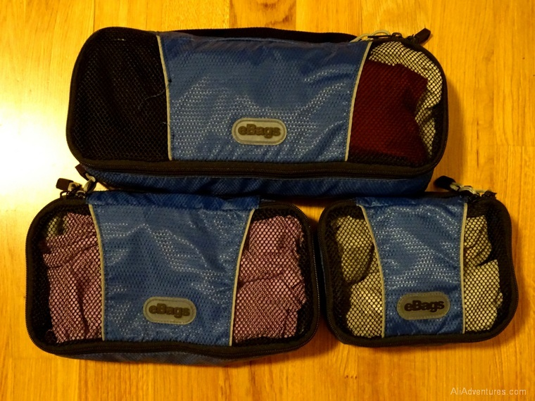 favorite luggage for traveling carry-on only - eBags packing cubes