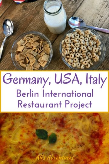 Berlin International Restaurant Project: Germany, USA, Italy