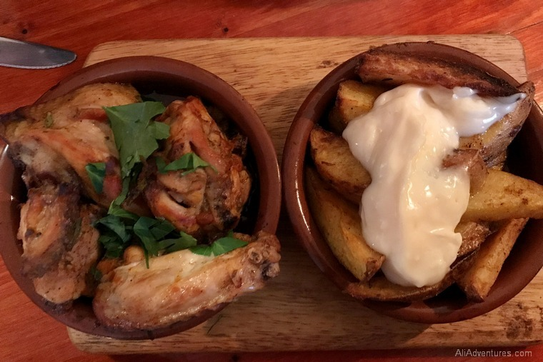 Portuguese restaurant in Berlin - chicken potatoes
