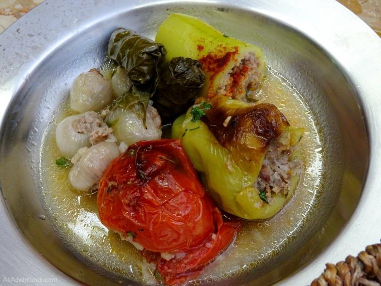 things to do in Sarajevo food tour stuffed veggies