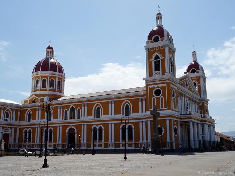 Granada, Nicaragua church on main square