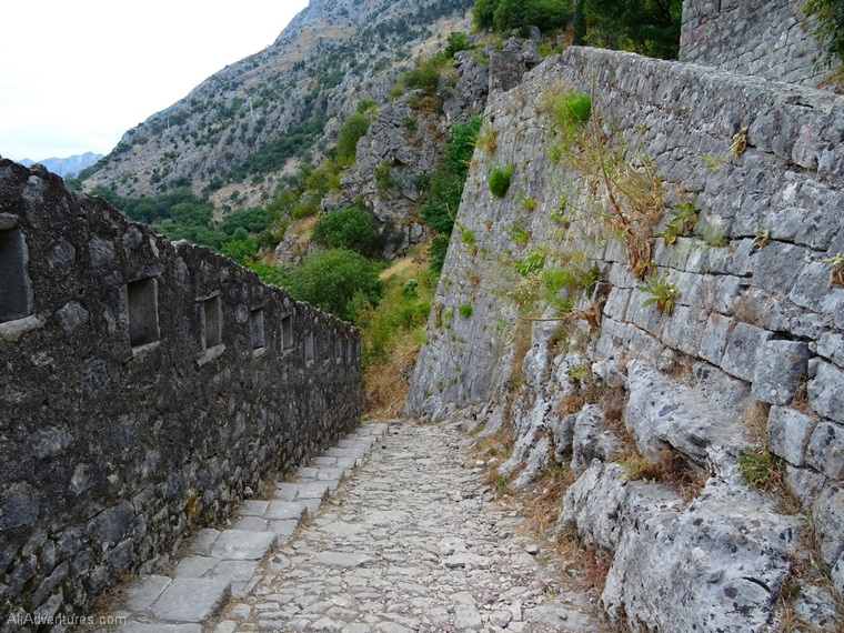 best places to visit in Montenegro - hiking to castle in Kotor