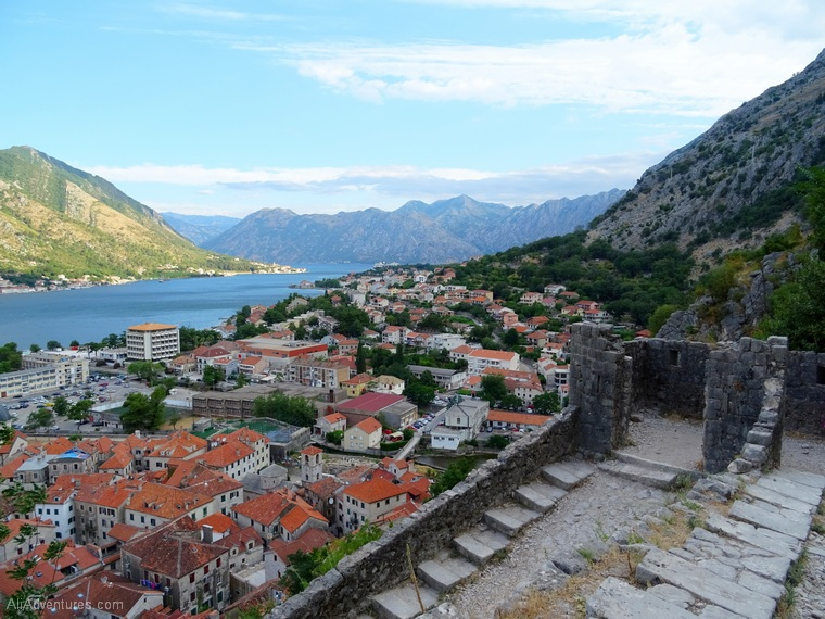 things to do in Montenegro - hiking to the castle in Kotor Montenegro