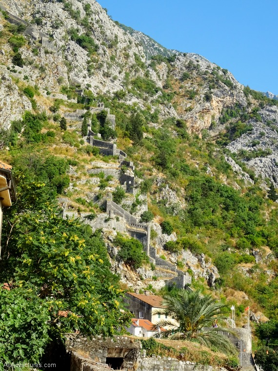 best things to do in Kotor Montenegro - views of Kotor from the walls