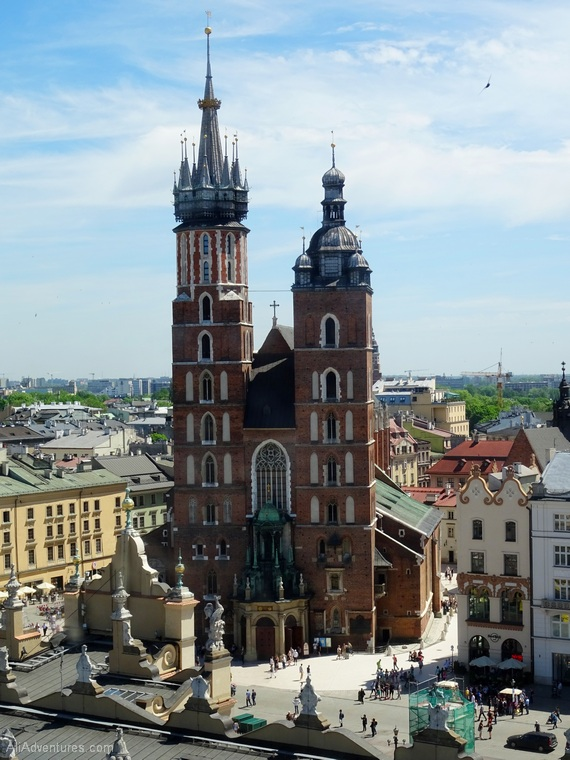 Things to do in Krakow Poland - Krakow old town hall views from above
