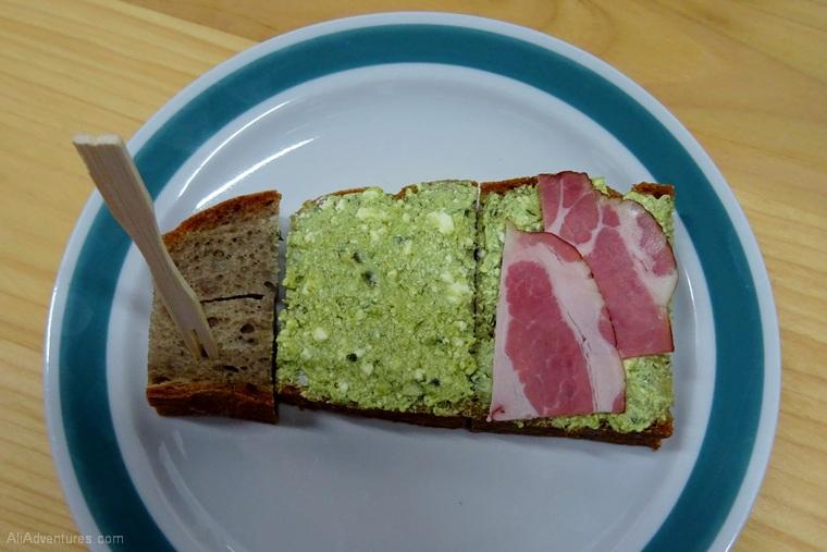Ljubljana food tour - spreads