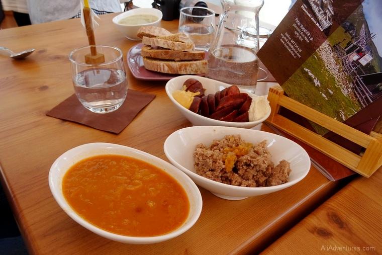 Ljubljana food tour - soup, sausages, horseradish