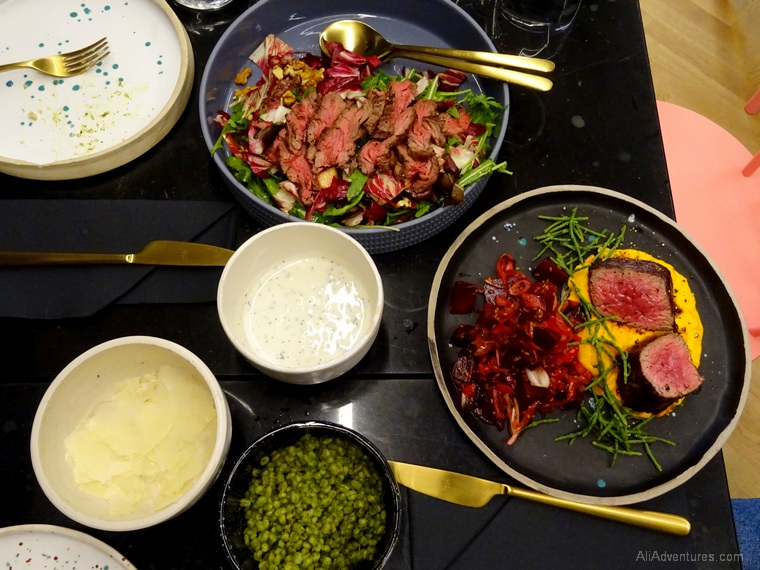 Ljubljana food tour - salads, beef